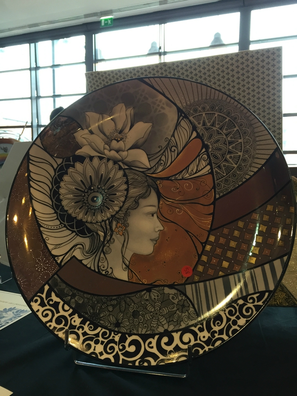 Salon international de peinture sur porcelaine Lyon 2015 Aline Koyess