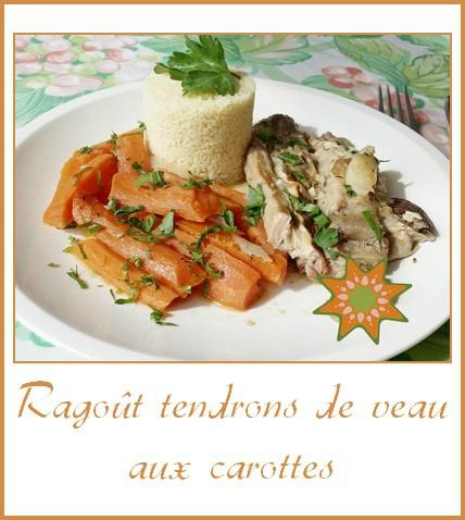 ragoût de tendrons de veau aux carottes