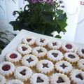 Biscuits sablés à la confiture ou chocolat