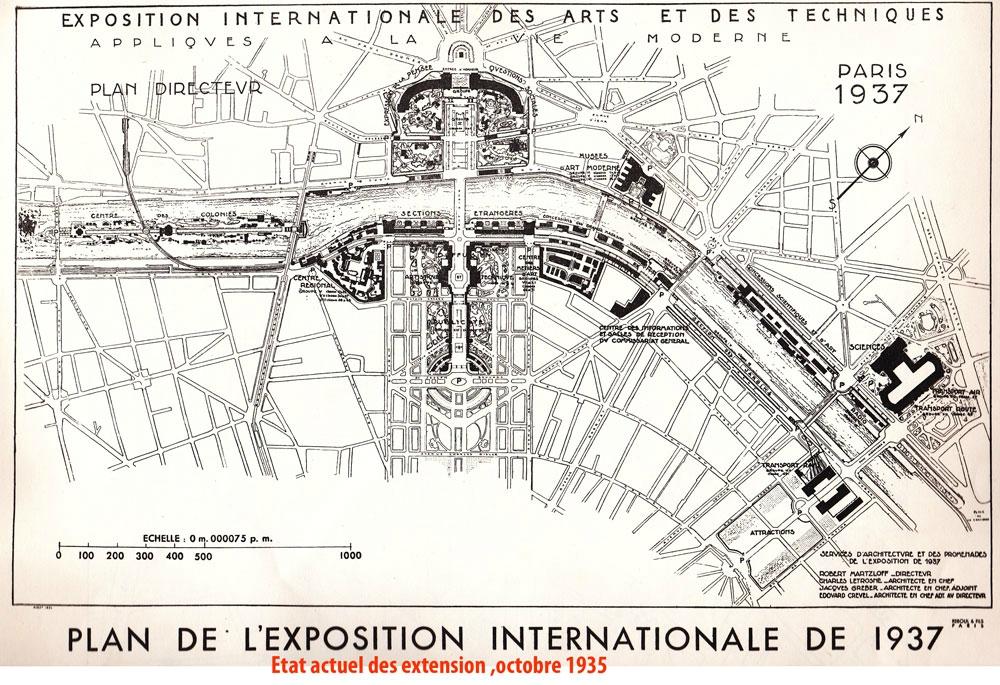expo 1937 -plan