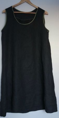 robe lin gris et biais kaki 1