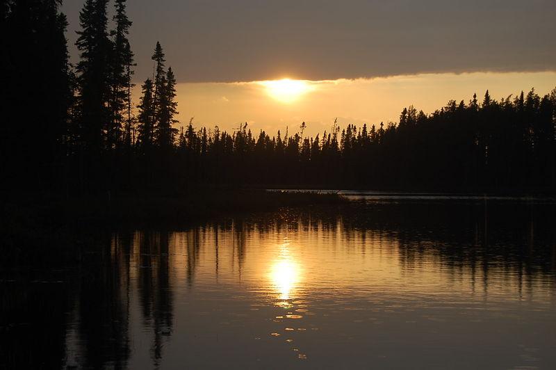 coucher du soleil au chalet