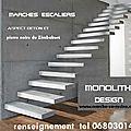 Escalier suspendu,escalier suspendu, marches suspendues, marche caisson, escalier beton, placage escalier,