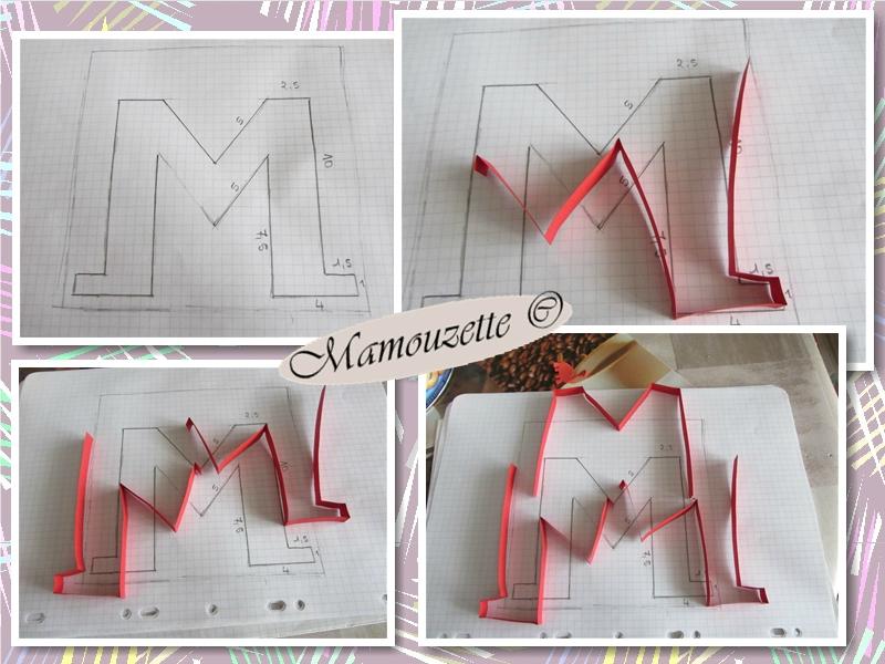 lettre quilling M comme Mami ou Marguerite   Le quilling de Mamouzette lettre quilling