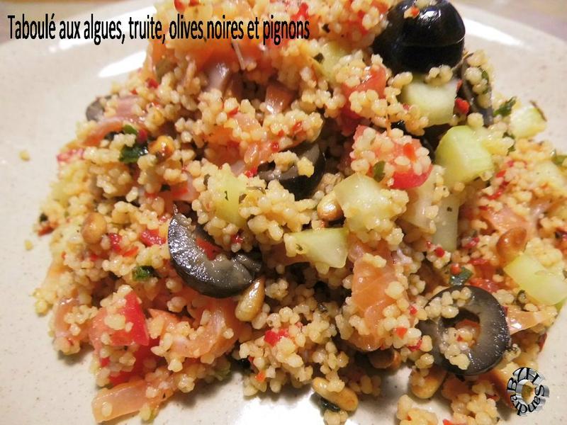 0911 Taboulé aux algues, truite, olives noires et pignons 2