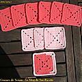 Pink square blanket #7