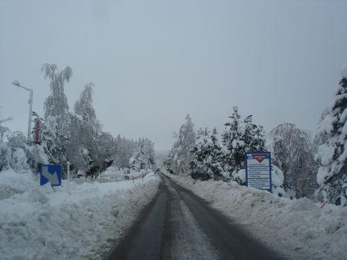 2008 12 17 Sur la route sortie du Mazet Saint Voy