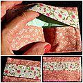 étui à mouchoirs rose fleuri