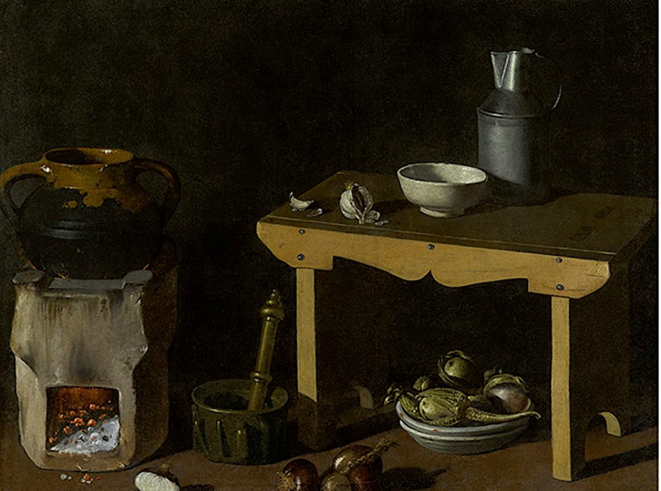 Attributed to diego rodríguez de silva y velázquez kitchen still life
