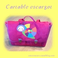 Cartable escargot go go