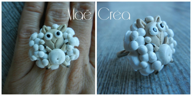 collage crea mae bague mouton
