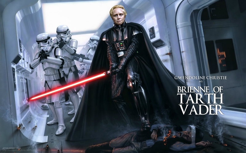 Montage sympa de Gwendoline Christie entre Star Wars et Games of Thrones
