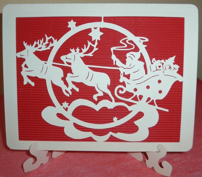 Carte de Noël, série rouge et ivoire (fin)