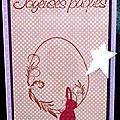 Un oeuf ... un lapin ... des perles ... des étoiles ... une carte girly et élégante pour pâques !