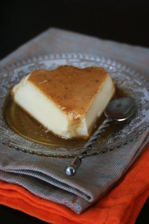 Crème caramel vanille fleur d'oranger 1