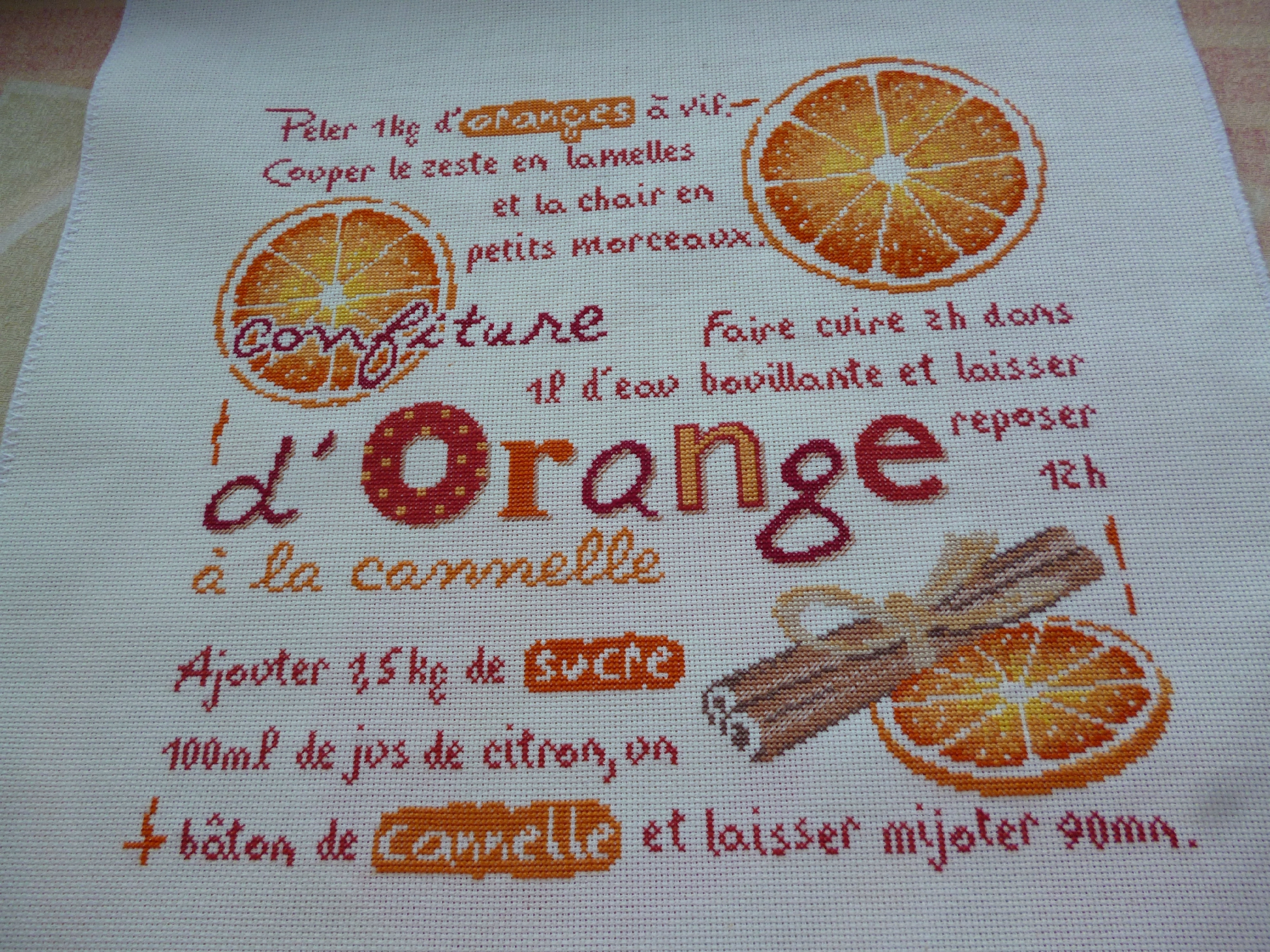 "SAL ""Confiture d'orange "" de LILI POINTS objectif 12"
