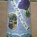 Tuile décorée thème lavande