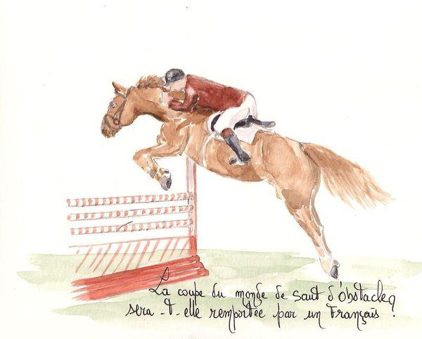 Coupe du monde de saut d 39 obstacle carnets de voyage et peintures de chinou - Coupe du monde de saut d obstacle ...