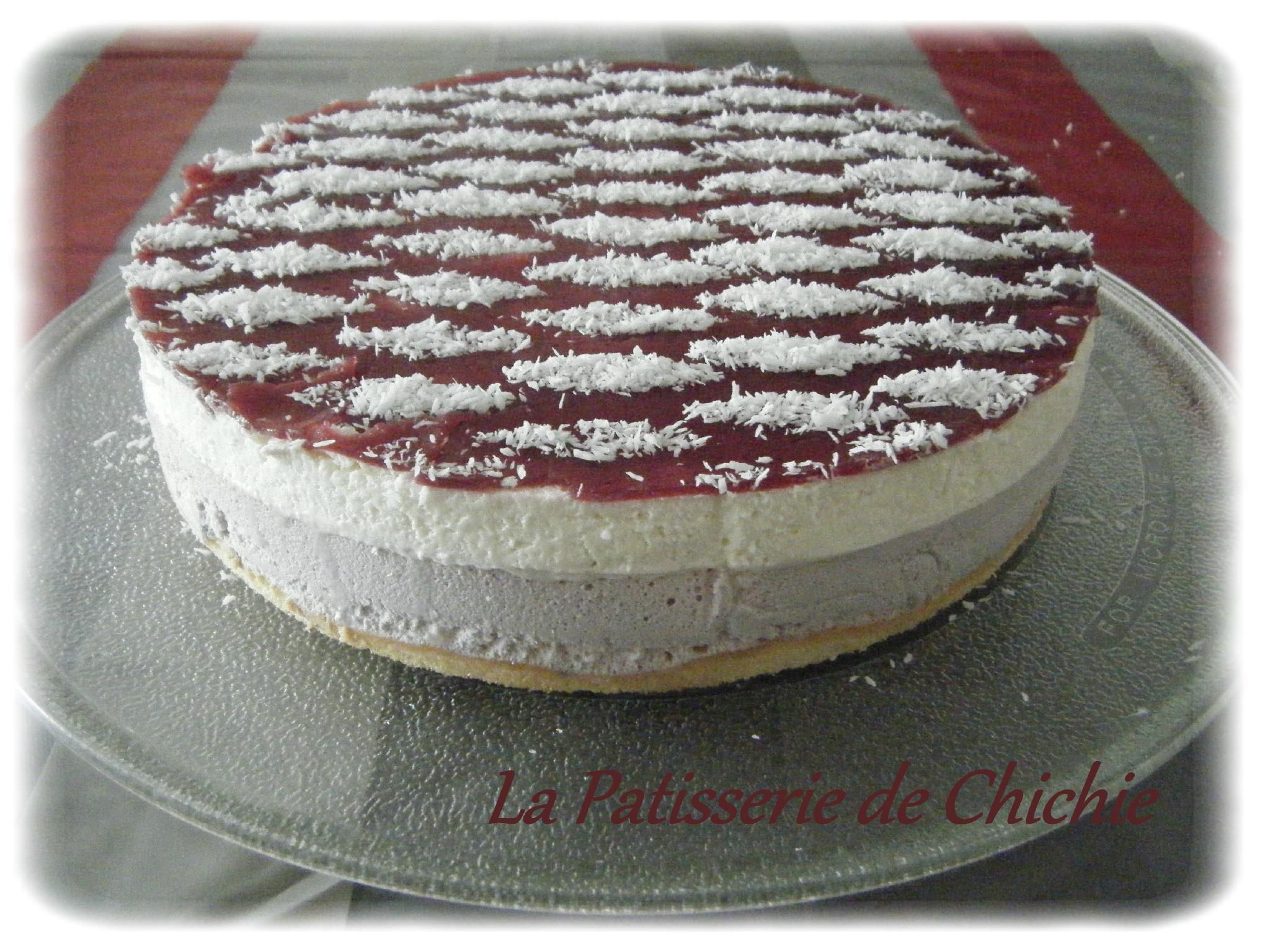 Bavarois chocolat blanc/framboise