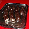chocolat noir fourré nutella noisette
