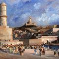 Marseille. les forts saint-jean et saint-nicolas.