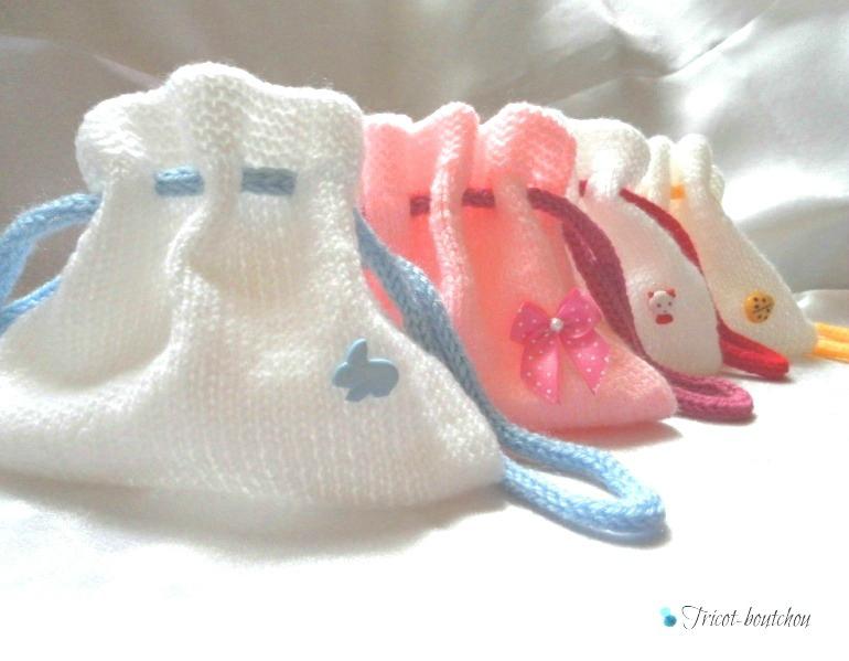 petite bourse en laine tricoter au tricotin : Autres sacs par bjwl