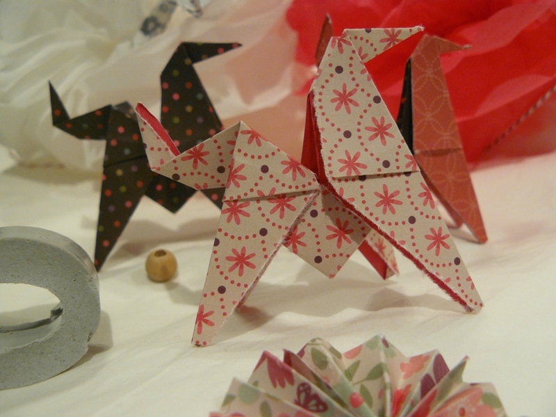 cadeaux pour calendrier de l'avent gifts for advent calendar origami deco noel home made