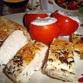Blanc de poulet et tomates farcies au tzatziki