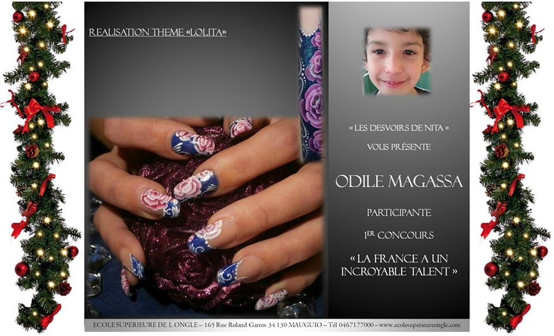 Nail art la France a un incroyable talent les Devoirs de Nita Crocongle