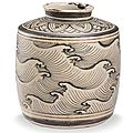 A 'jizhou' painted 'wave' jar, song-yuan dynasty