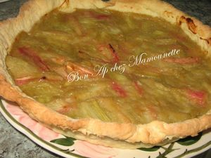 Tarte  la rhubarbe de Bretagne et pte maison 015