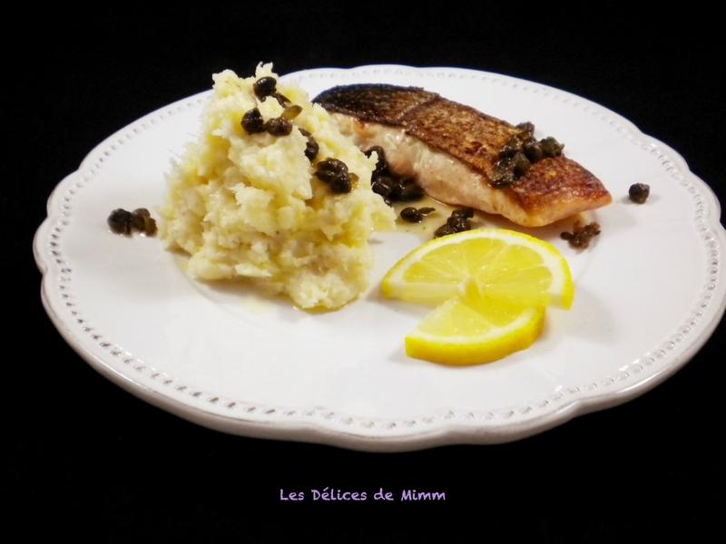 Saumon croustillant, purée de panais et sauce beurre et câpres de Donna Hay 3