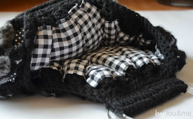 sac crochet noir et gris lou&me 4