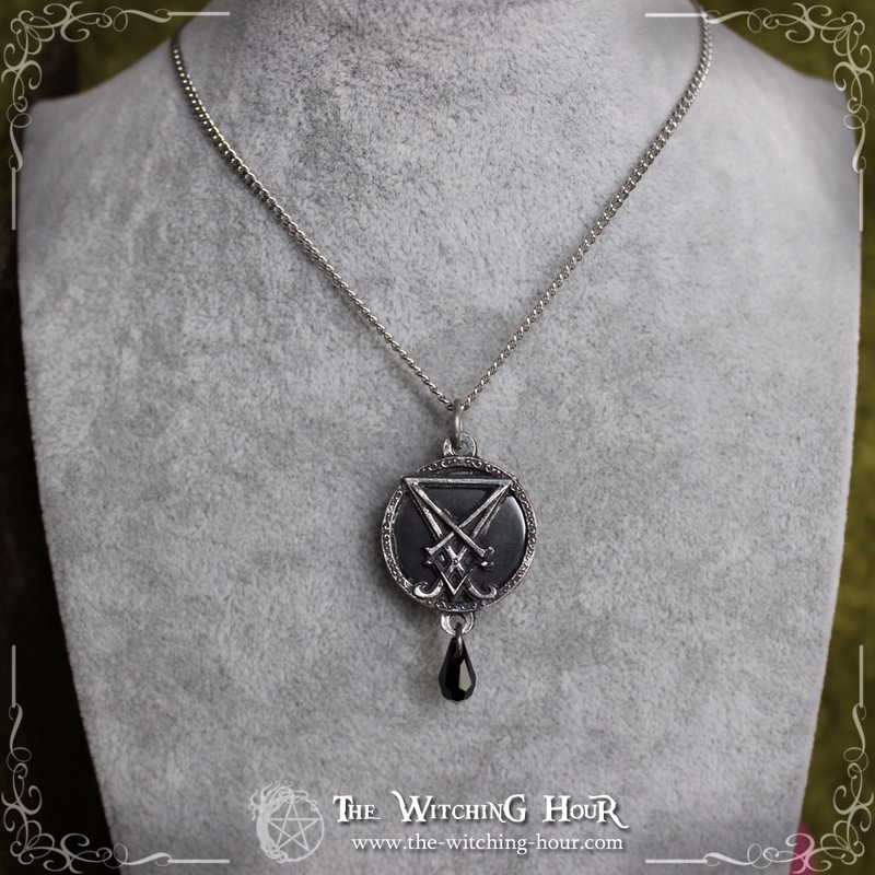 Collier sigil de Lucifer hématite 8 copie