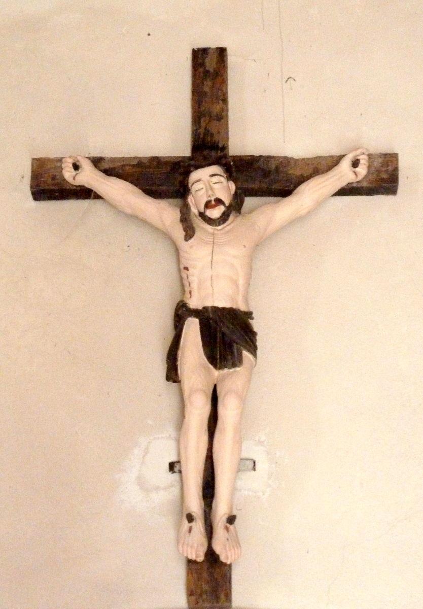 Christ moustachu à Condat-en-Combraille