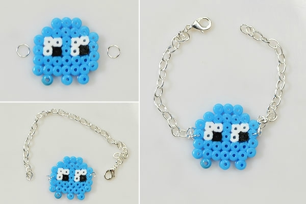 Easy Perler Beads Idea -How to Make a Cute Cartoon Perler Bead Chain Bracelet (5)