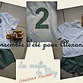 Ensemble tee-shirt et short des Intemporels pour Alexandre