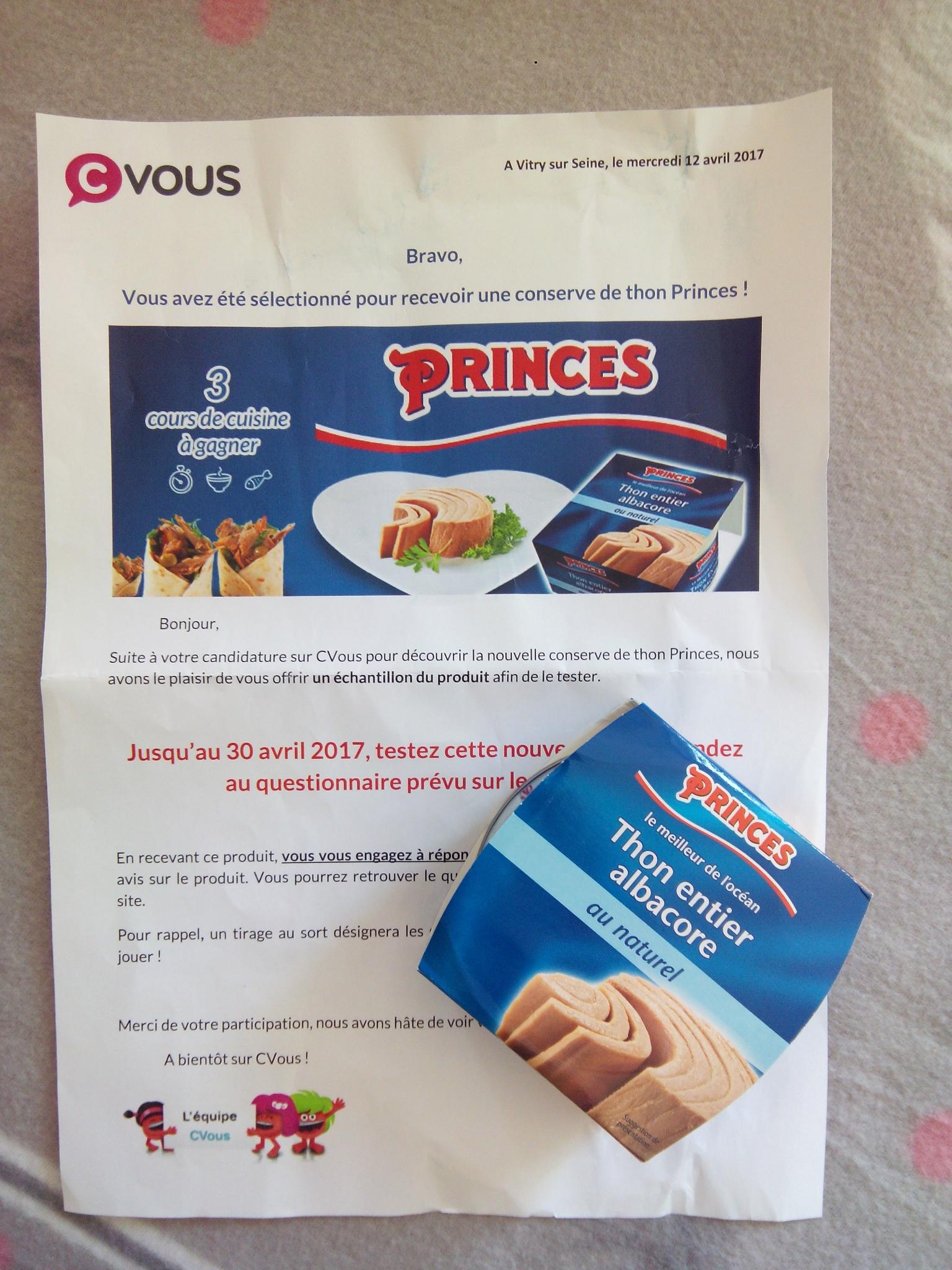 Notre découverte de la marque PRINCES peut désormais commencé... 💐💕