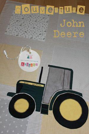 Tracteur John Deere - Gros plan