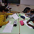 Les élèves à l'oeuvre