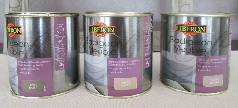 Le badigeon meuble de lib ron patine production for Peinture liberon meuble
