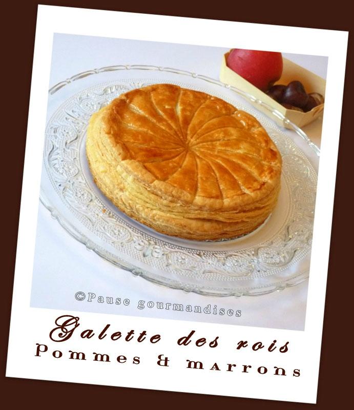 Galette des rois pommes marrons (2)