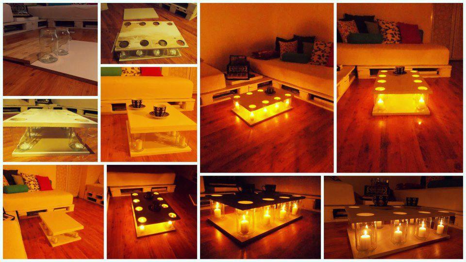 Table d corative avec des bougies les petites - Astuce brico deco ...