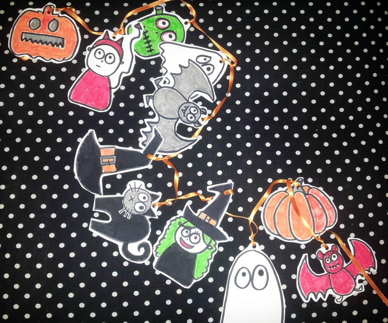GUIRLANDE DIY - HALLOWEEN 1 finie