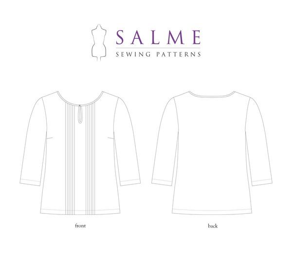 Salme Patterns - Pintuck Blouse