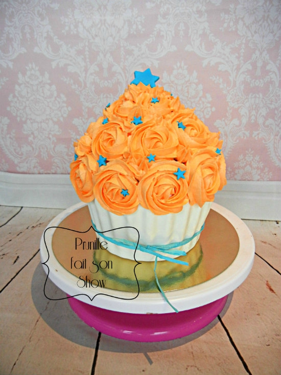 smash cake orange et bleu prunillefee