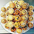 Les madeleines aux paillettes de chocolat de miss chipie #tresorsdechefs