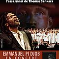 Concert emmanuel pi djob le 15 octobre à montpellier