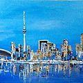 Toronto acrylique sur toile 60 x30 cm