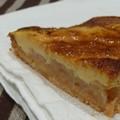 Gâteau poire sous crème brulée